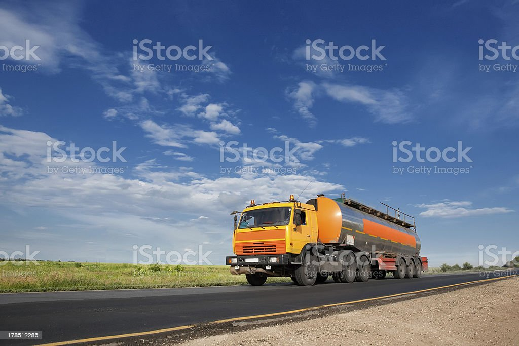 fuel tanker truck royalty-free stock photo
