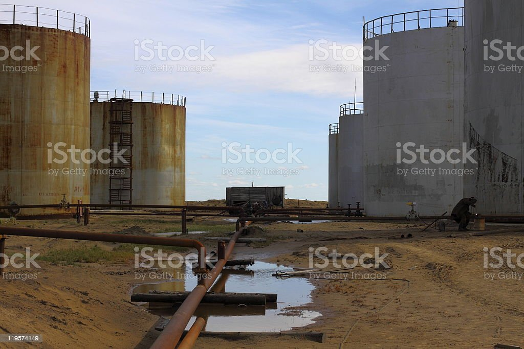 Fuel tanks royalty-free stock photo