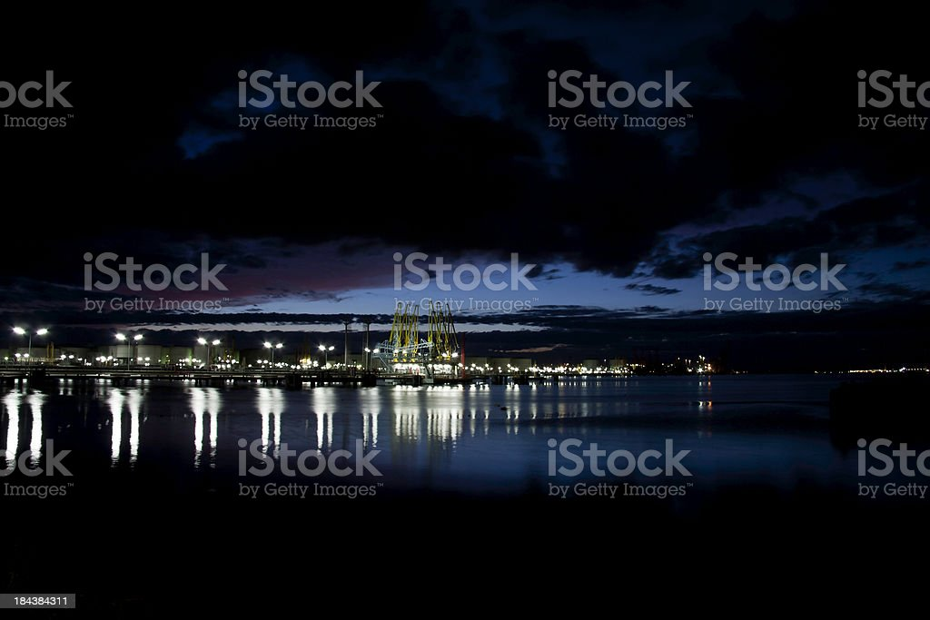 Fuel terminal at dusk royalty-free stock photo