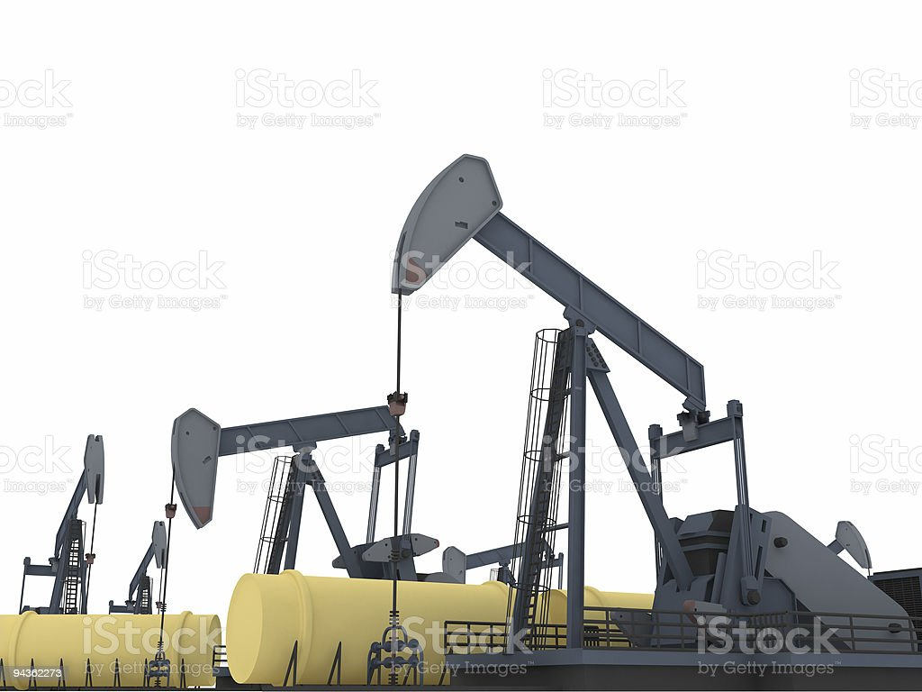 Fuel tower royalty-free stock photo