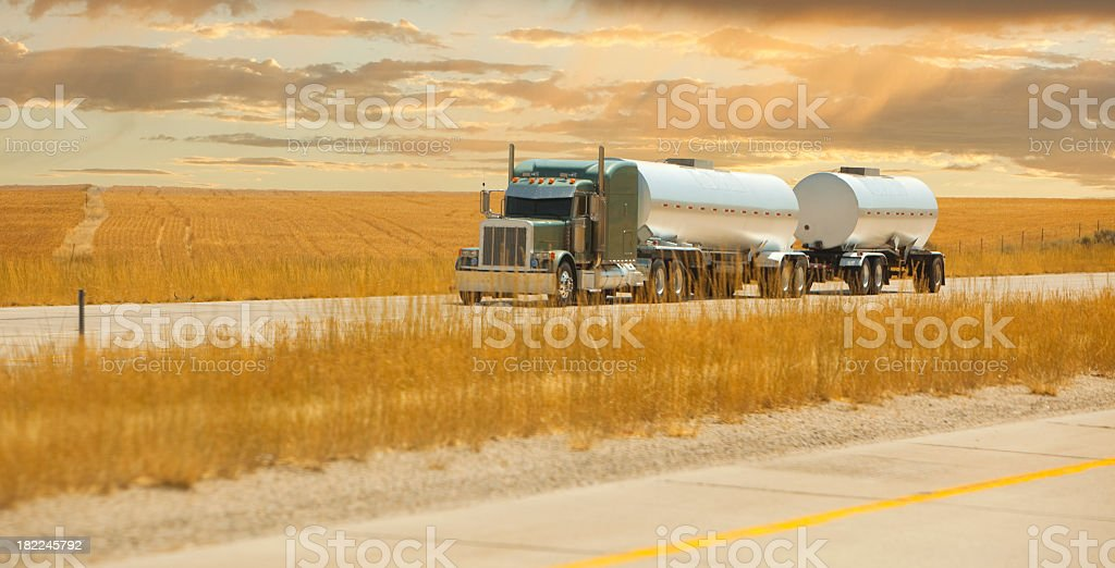fuel truck stock photo