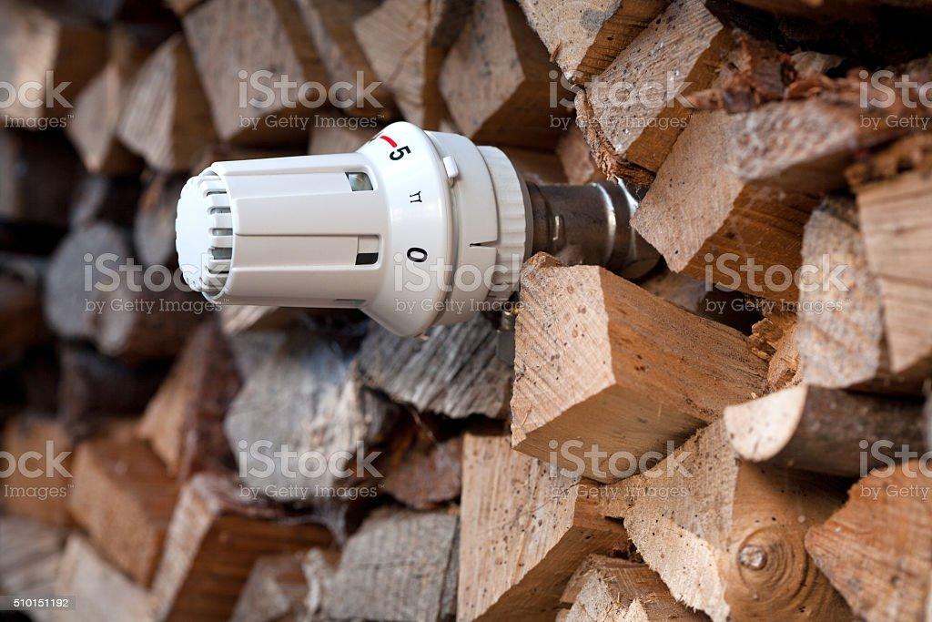 Fuel wood stock photo