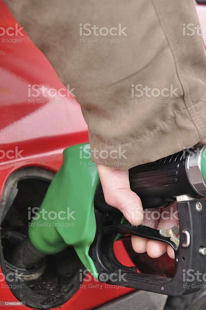 Fueling a car royalty-free stock photo