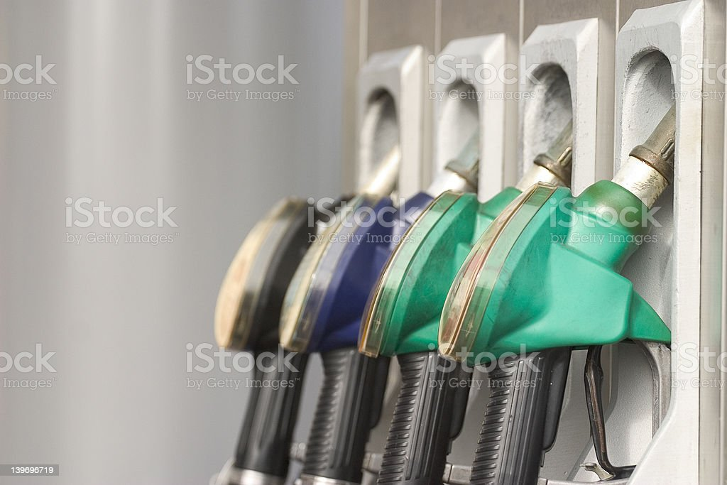 Fueling royalty-free stock photo
