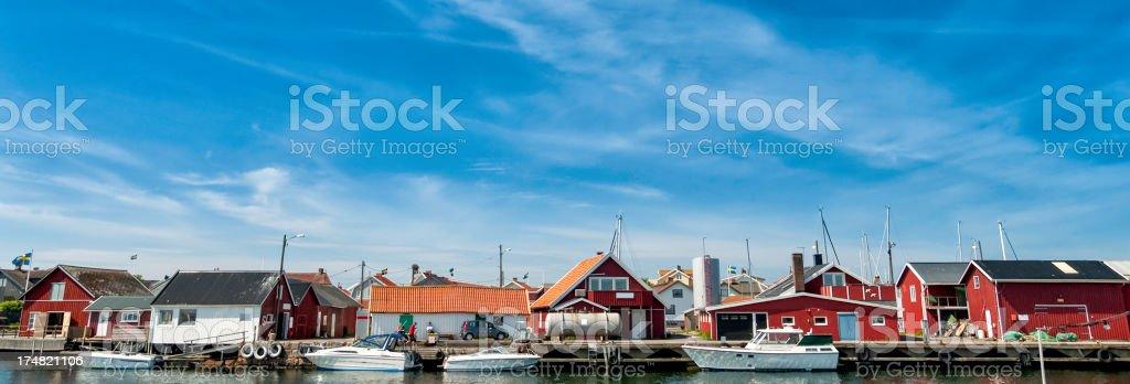 Fuelling station at Knippla marina royalty-free stock photo