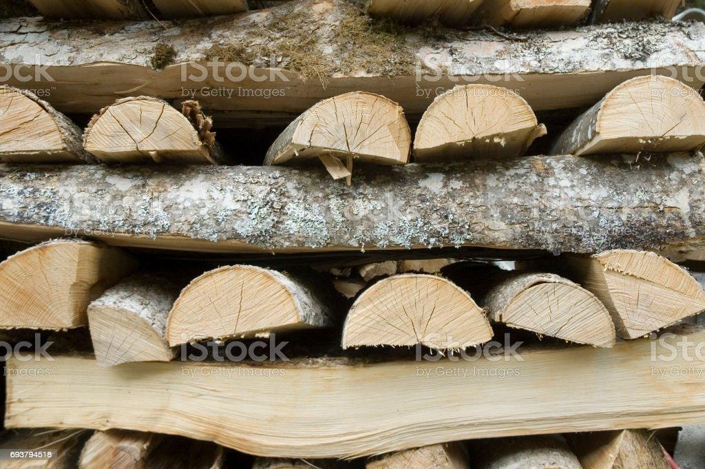 fuelwood stock photo