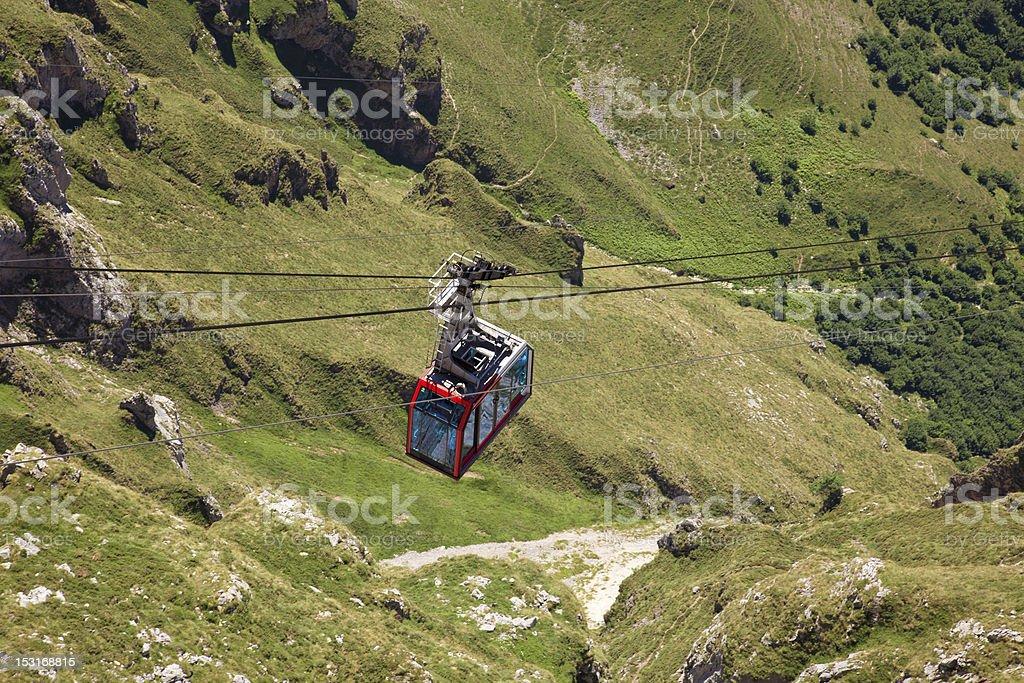 Fuente D? cable railway. Picos de Europa, Spain stock photo