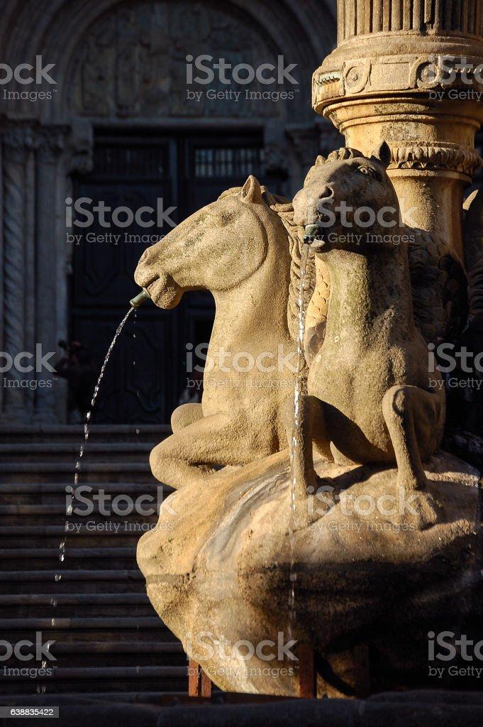 Fuente de los Caballos - Santiago de Compostela stock photo