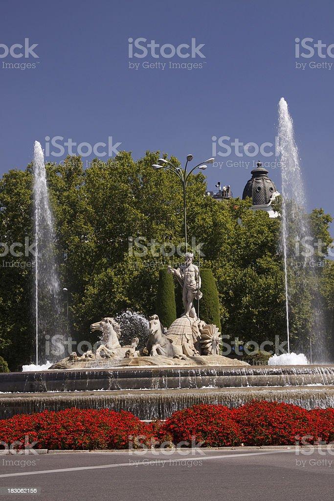 Fuente de Neptuno in Madrid, Spain royalty-free stock photo