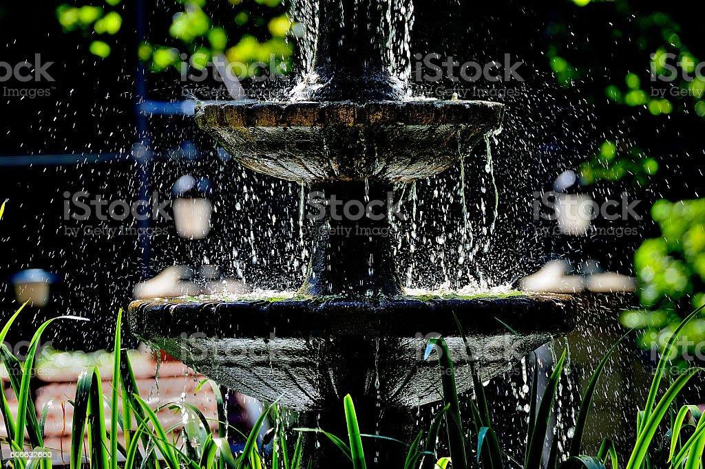 fuente en el parque royalty-free stock photo