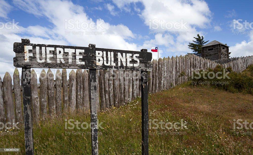 Fuerte Bulnes stock photo