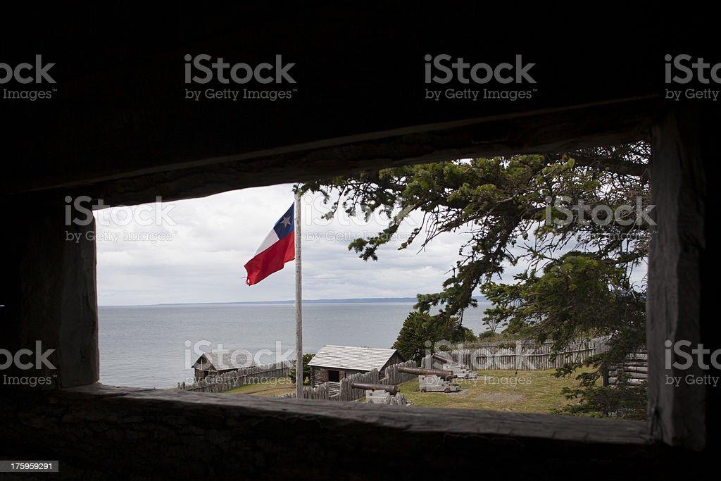 Fuerte Bulnes royalty-free stock photo