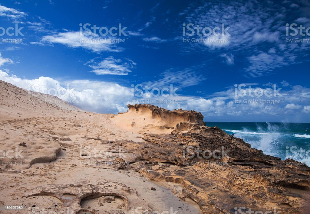 Fuerteventura, Canary Islands, west coast of Jandia stock photo