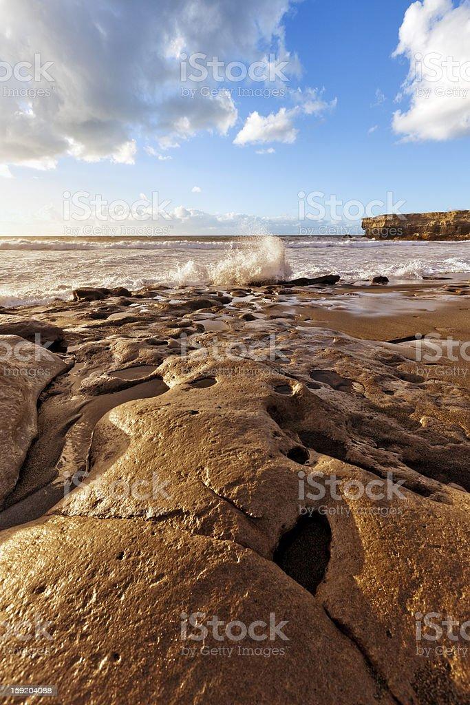 Fuerteventura coast at La Pared stock photo