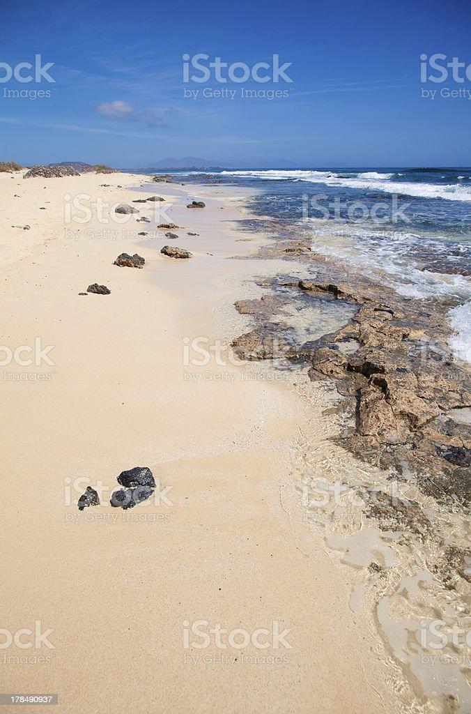 Fuerteventura, edge of Burro beach royalty-free stock photo