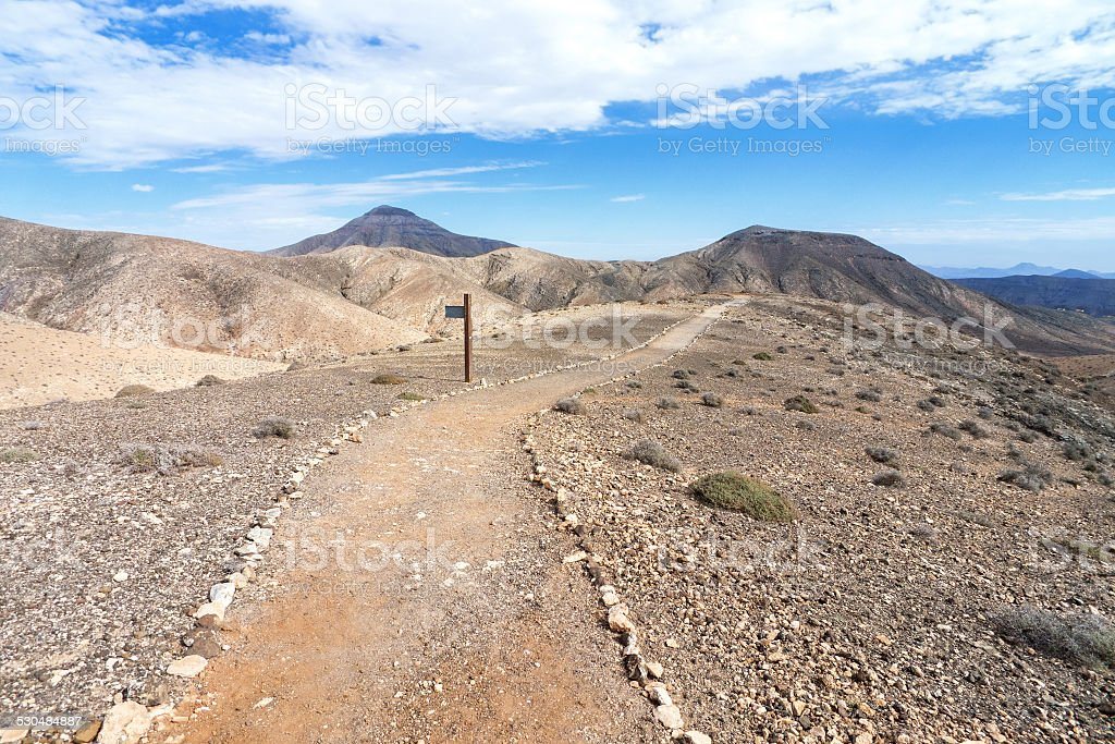 Fuerteventura - Hiking path in the Cardon massif royalty-free stock photo