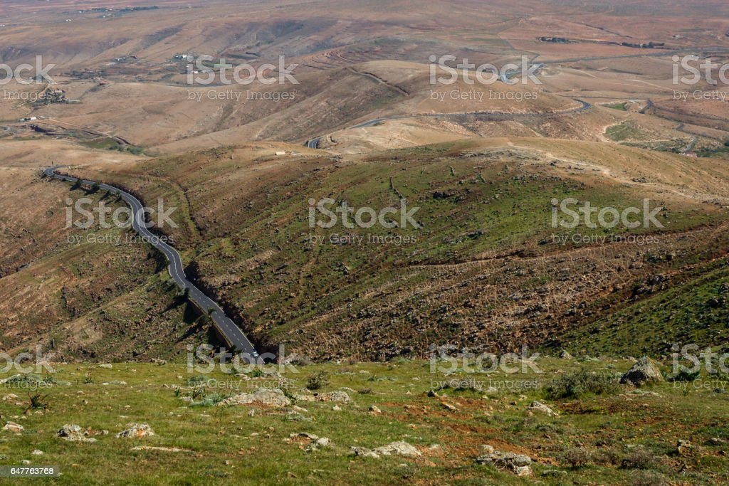 Fuerteventura Island landscape stock photo