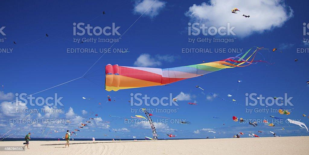 Fuerteventura Kite festival 2012 stock photo
