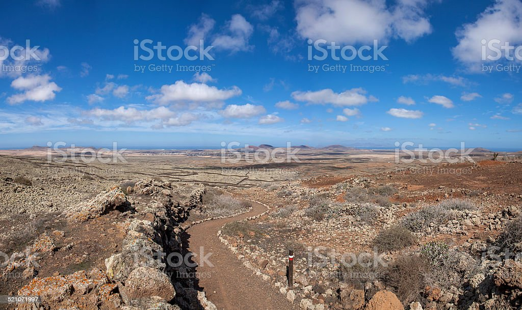 Fuerteventura - Long-distance path GR 131 stock photo