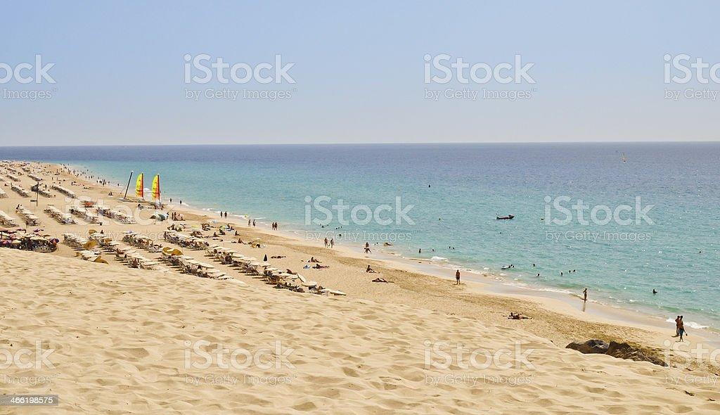Insel Fuerteventura.  Morro Jable beach Lizenzfreies stock-foto
