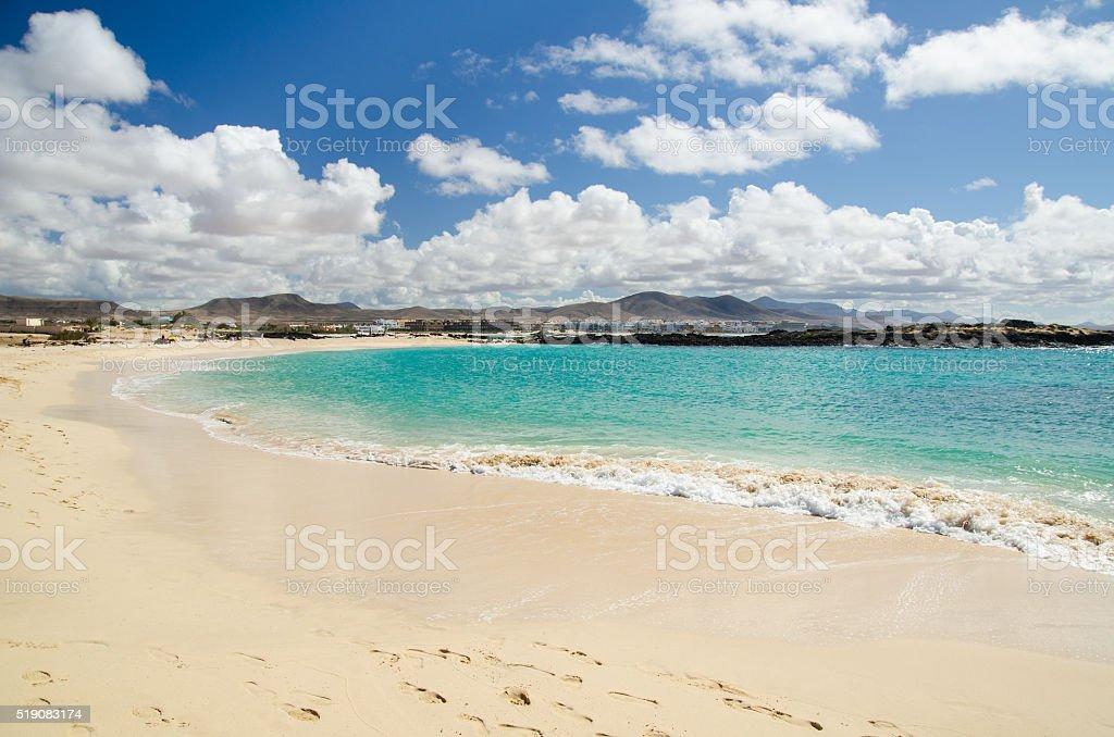 Fuerteventura Playa el Cotillo stock photo