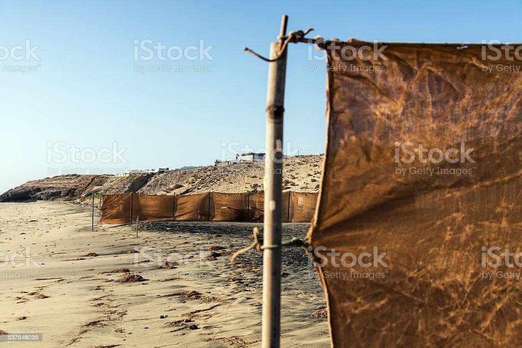 Fuerteventura, spiaggia, riparo stock photo