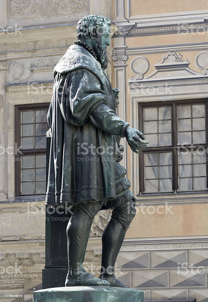 Fugger Sculpture royalty-free stock photo