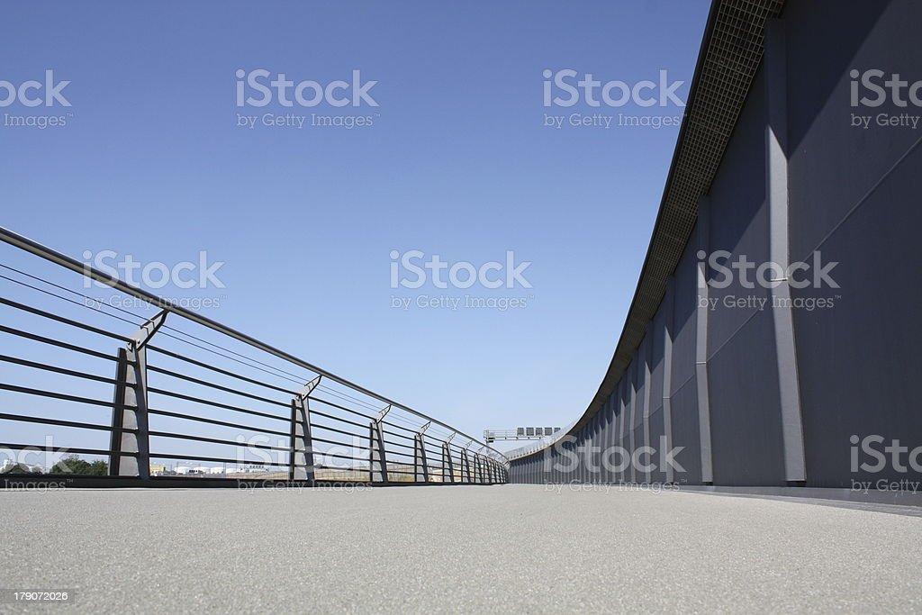 Fußgängerbrücke in Berlin stock photo