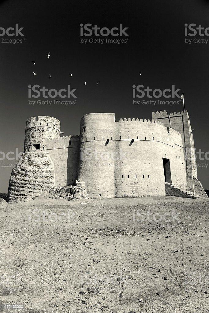 Fujairah Fort United Arab Emirates royalty-free stock photo