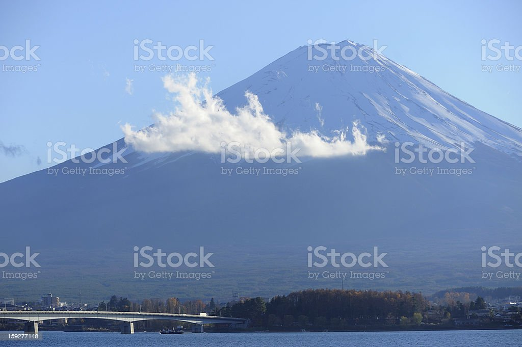 Fuji mountain and Kawaguchiko Lake royalty-free stock photo