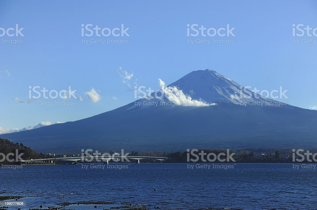 Fuji mountain and Kawaguchiko Lake royalty-free stock photo