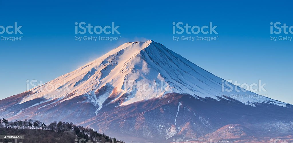 Fuji Mountian with good weather in summer stock photo