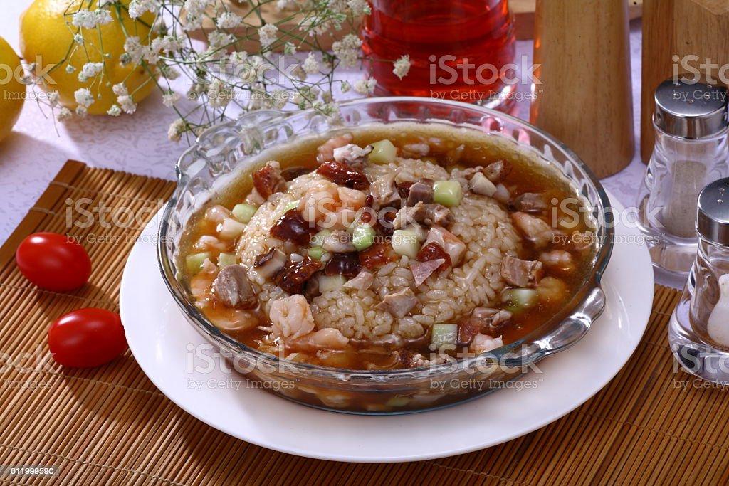 Fujian fried rice (福建炒饭) stock photo