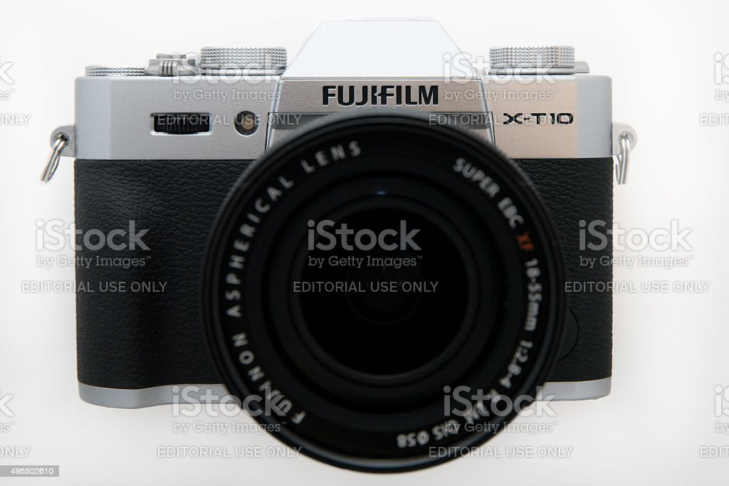 Fujifim X-T10 Mirrorless Camera stock photo
