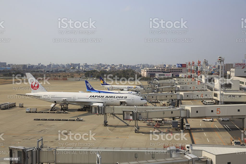 Fukuoka Airport in Japan royalty-free stock photo