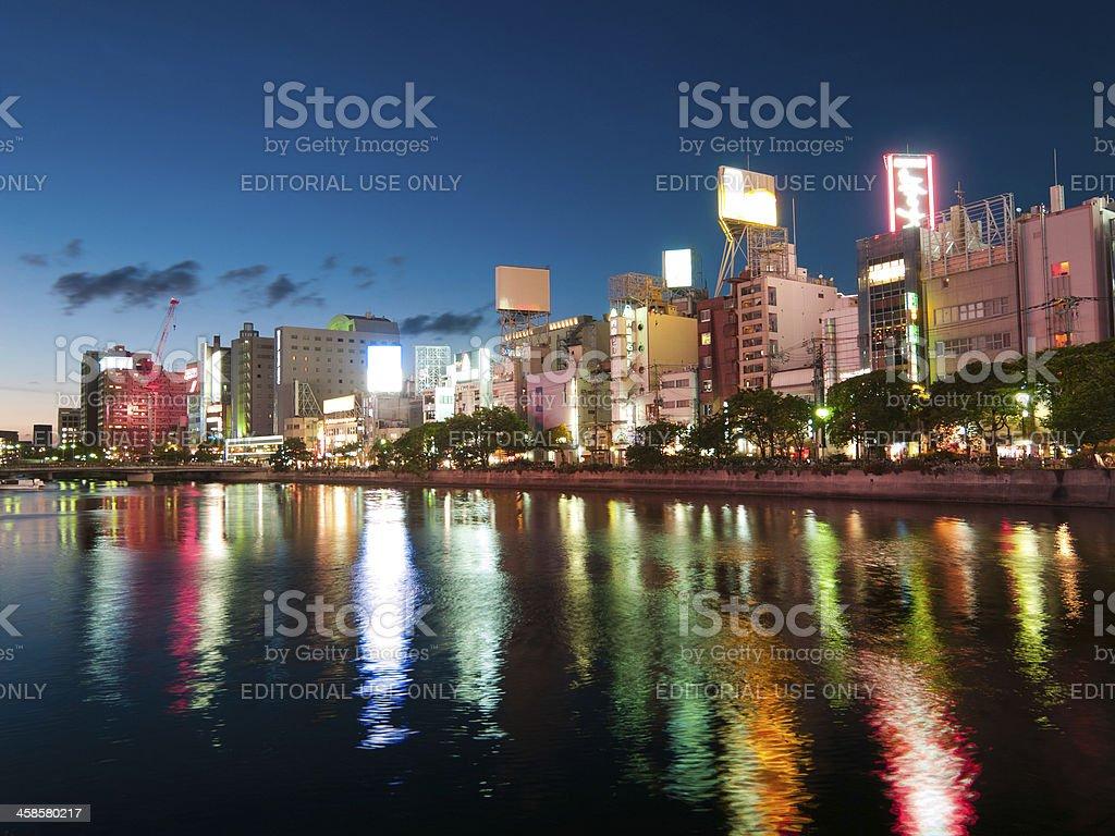 Fukuoka Evening scene royalty-free stock photo