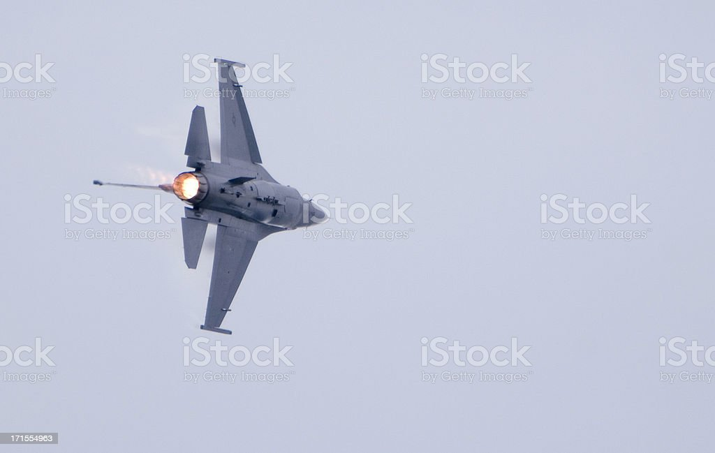 Full Afterburner On An F16 royalty-free stock photo