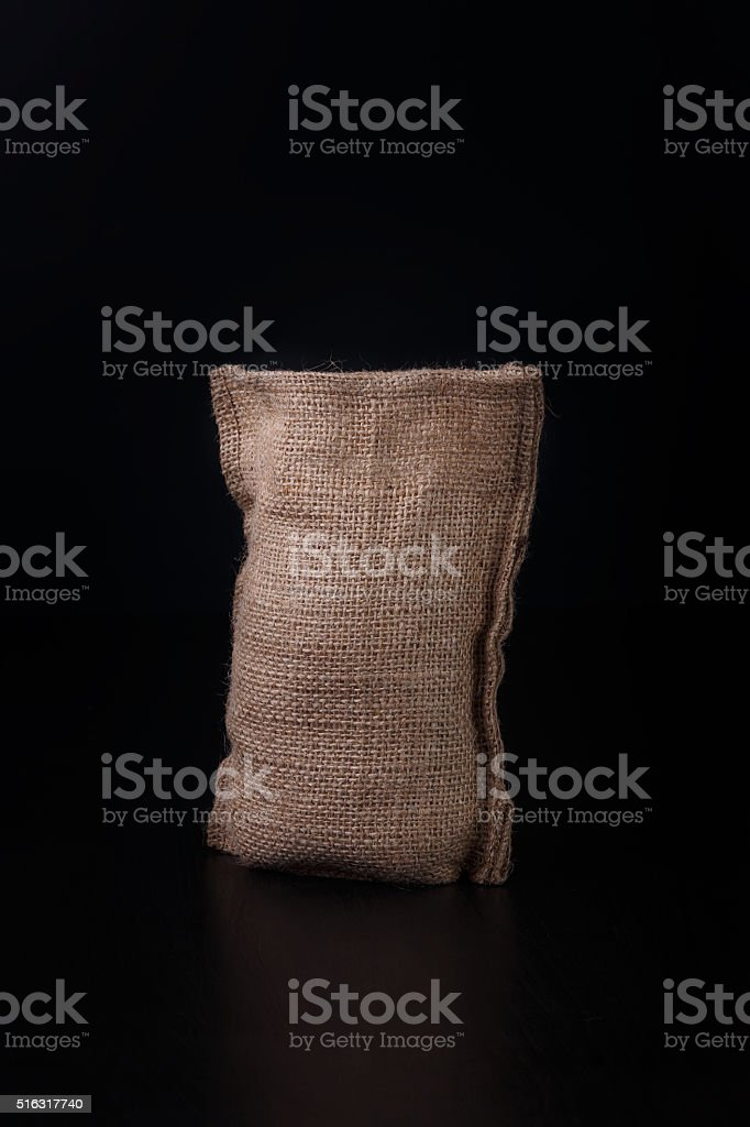 Full bag with a grains stock photo