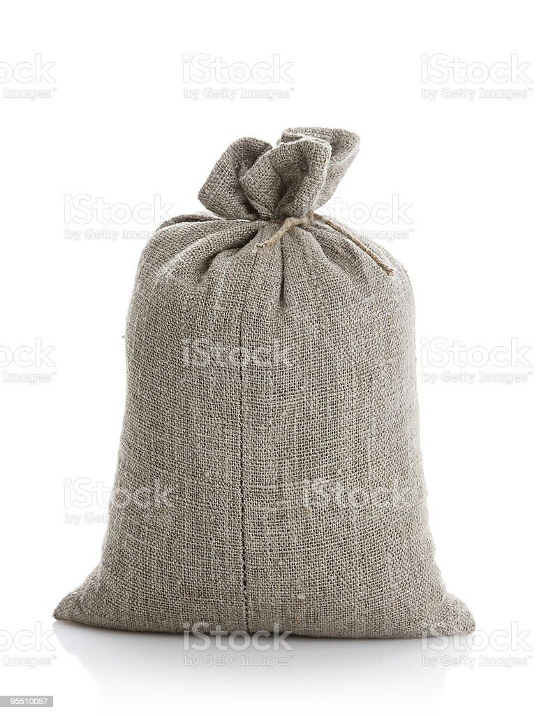 Full bag with a wheat royalty-free stock photo
