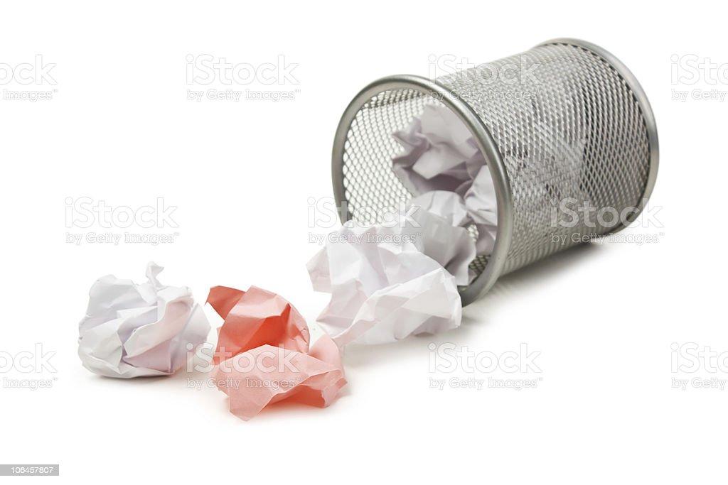 full basket of paper stock photo