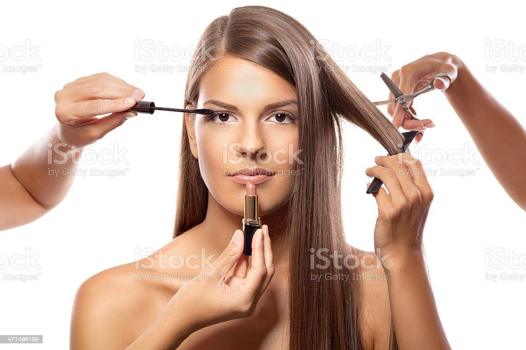 Full beauty treatment royalty-free stock photo