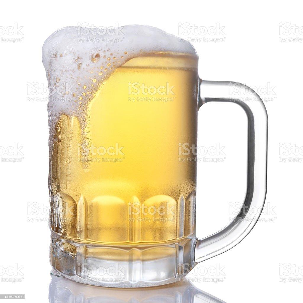 full beer mug royalty-free stock photo