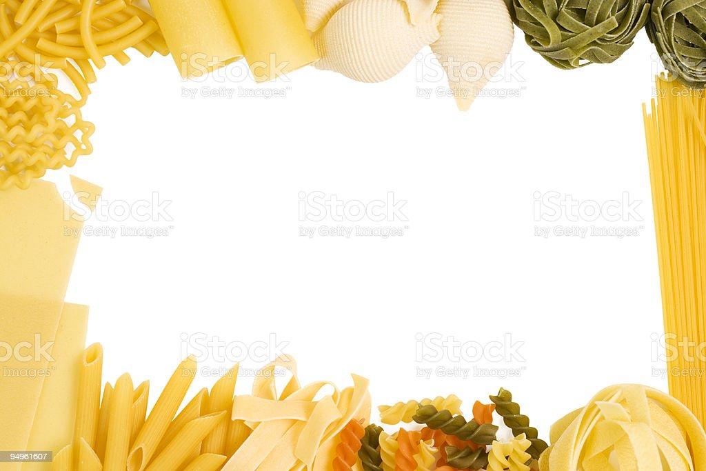 full bleed pasta border royalty-free stock photo