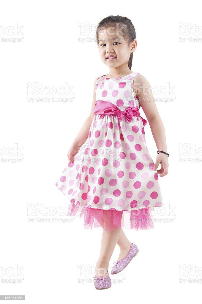 Full body Asian girl dancing royalty-free stock photo