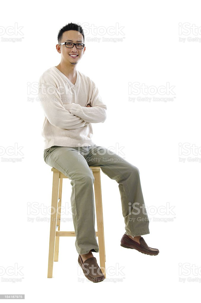 Full body Asian man stock photo