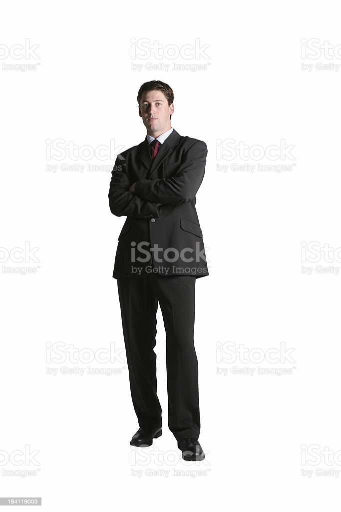 Full body businessman royalty-free stock photo