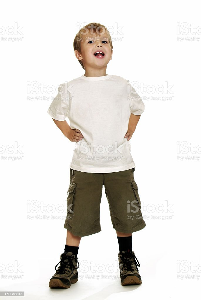 Full Body - Cheeky Boy stock photo