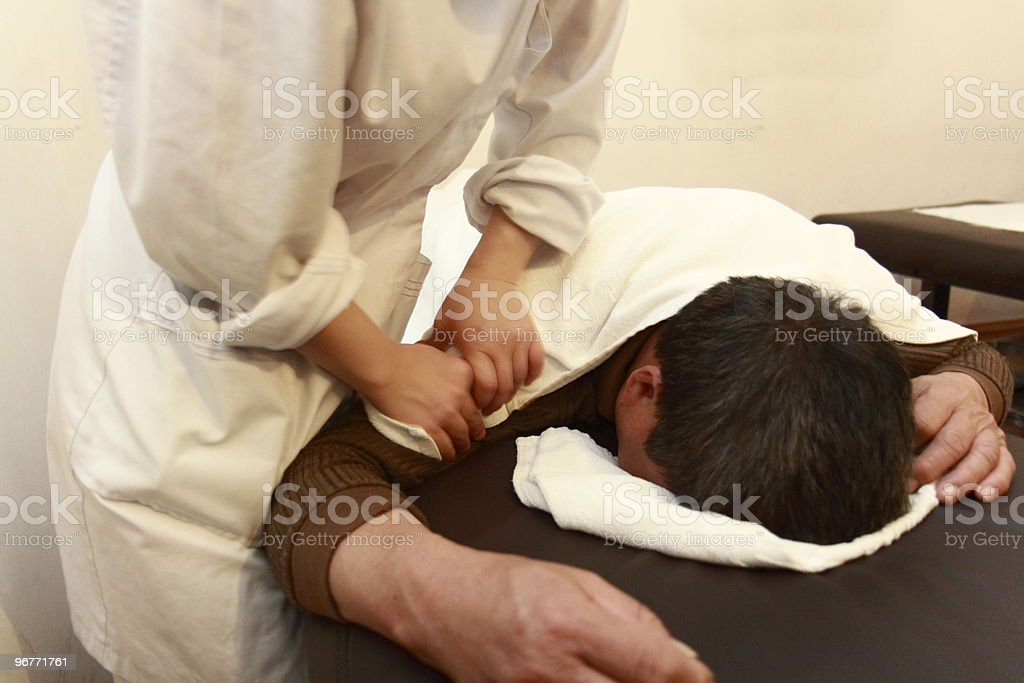 Full Body Massage stock photo