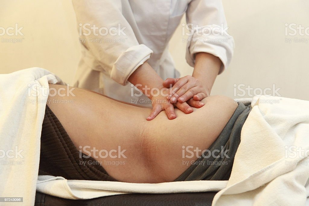 Full Body Massage royalty-free stock photo