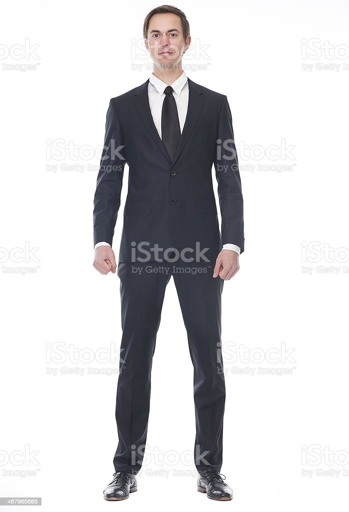 Full body portrait of a businessman stock photo